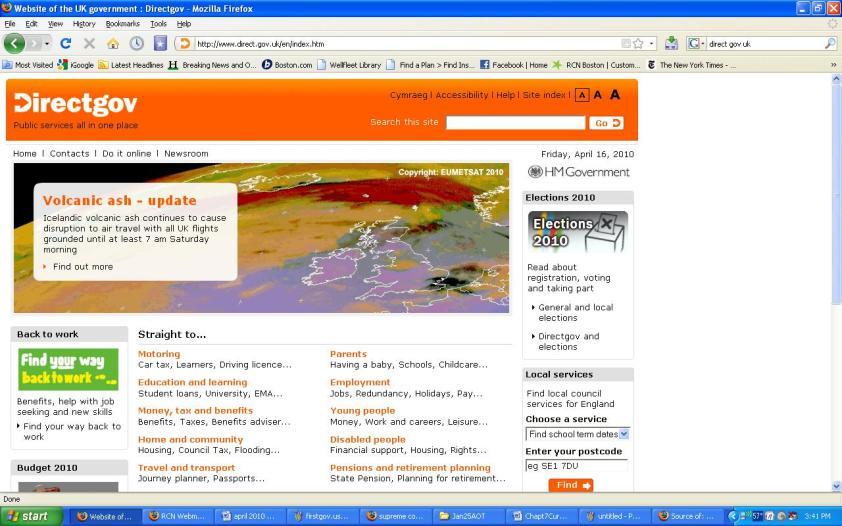 Direct.Gov.UK April 16, 2010